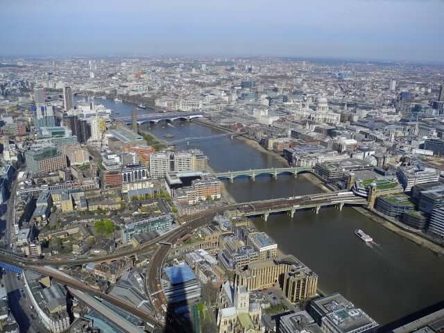 view from the shard-londres