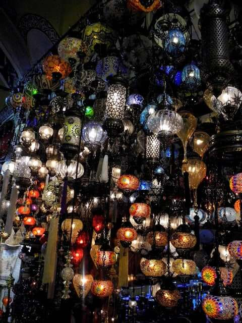 grand bazar istanbul-lampes